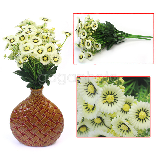2 Bouquet 28 Head Artificial Chrysanthemum Home Prom Wedding Floral Decoration(China (Mainland))