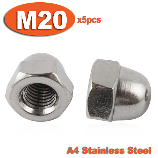 5pcs DIN1587 M20 Stainless Steel A4 Marine Grade Hex Hexagon ACORN Domed Cap Nuts<br><br>Aliexpress
