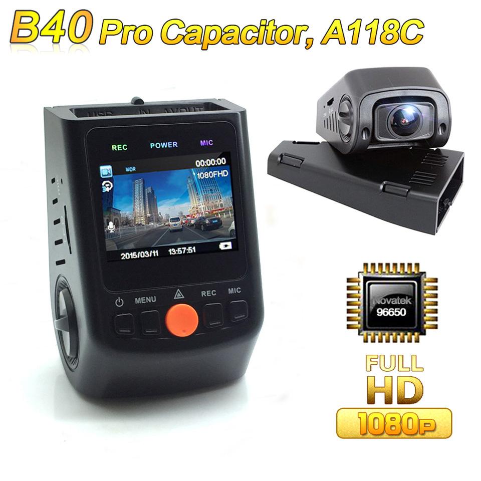 Upgraded B40 PRO A118C Novatek 96650 Car DVR Camera Full HD 1080P Dash Cam IMX 323 6G Lens video registrator(Support 128GB Card)(China (Mainland))