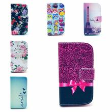 Book Style Magnetic Flip Wallet PU Leather Case CoverFor Samsung Galaxy S5 i9600 / S6 G9200 FA009(China (Mainland))