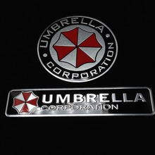 3D Aluminum Umbrella corporation car sticker accessories stickers ford focus cruze kia rio skoda octavia mazda opel M bmw vw - 003 AUTO STORE store