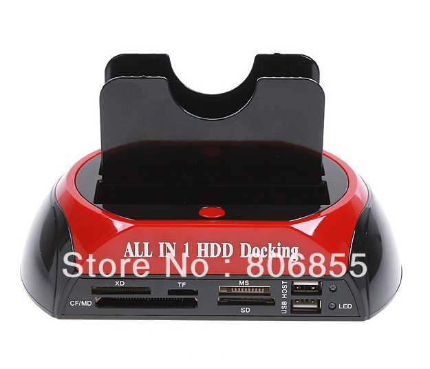 """2.5"""" 3.5"""" SATA / IDE 2 Double - Dock, All in one HDD Docking Station e- SATA / Hub External Storage Enclosure Parts"""