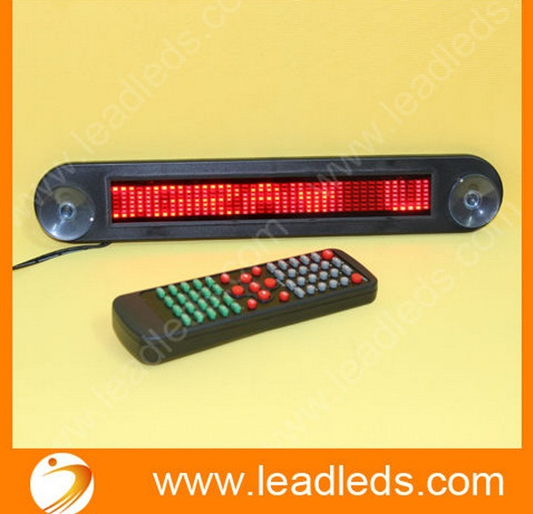 Free shipping high Brightness English 7*40 Dots LED car message display sign with remote control(China (Mainland))