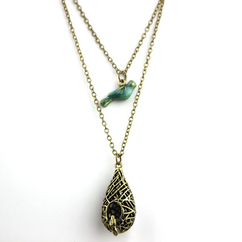 free shipping Elena Gilbert Blue Bird Necklace From The Vampire Diaries Women Jewelry(China (Mainland))