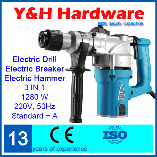 3 in1 Electric Hammer/ Electric Breaker/ Electric Drill, rotary hammer drill Hammer electric building demolition hammer LY201(China (Mainland))