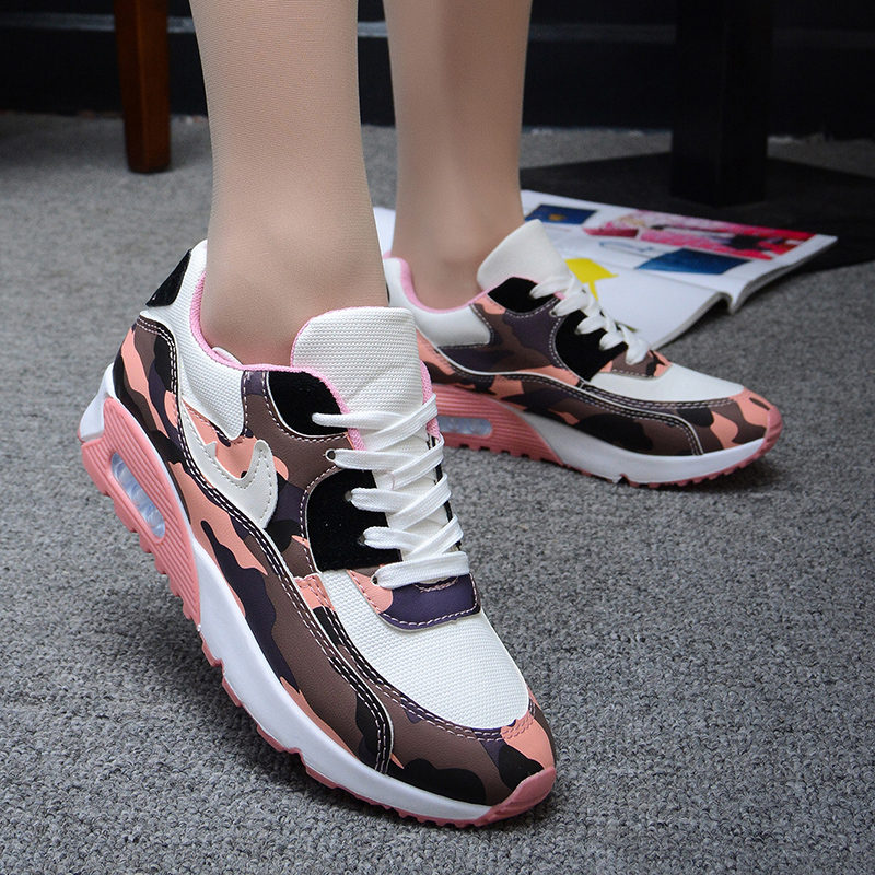 Woman Shoes Spring/Autumn 2016 New Fashion Camouflage Lace-Up Flat With Mujer Breathable Height Increasing Soft Shoes Woman(China (Mainland))
