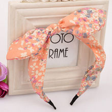 2016 New Floral Flowers Hairband Fabric Butterfly Bow Knot Hair Hoop Rabbit Ears Headband for Headwear Women Hair Accessories(China (Mainland))