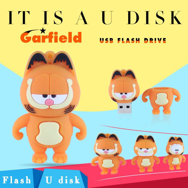 USB flash drive Garfield Cat pen drive 2GB 4GB 8GB 16GB pendrive mini gift usb stick free shipping flash card memory card(China (Mainland))