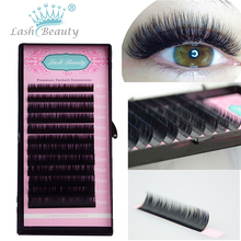 All Sizes False Eyelash Extensions Mink Black Material JBCD Curls 1 Tray/Lot(China (Mainland))