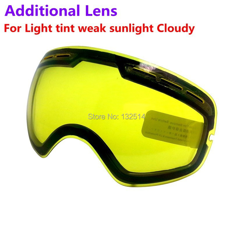 New genuine Bnice brand double brightening lens for ski goggles of Model Number s31 increase the brightness Cloudy night to use<br><br>Aliexpress