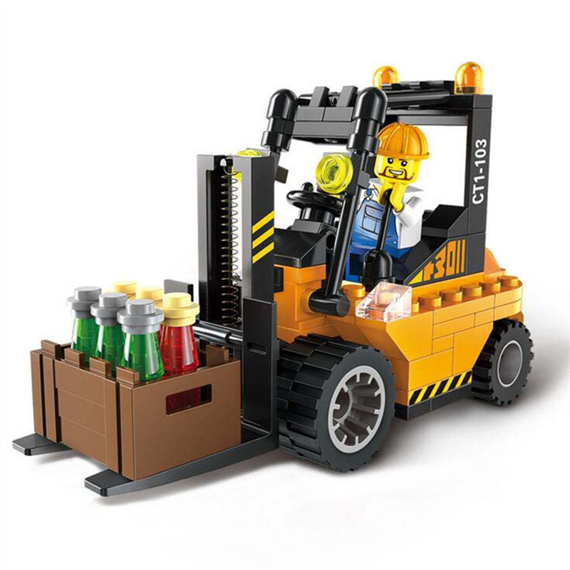 Blocks Toy 115pcs/set Building Blocks Forklift Trucks Assembly Model Building Kits Children Educational Puzzle Kids Birthday Gif(China (Mainland))