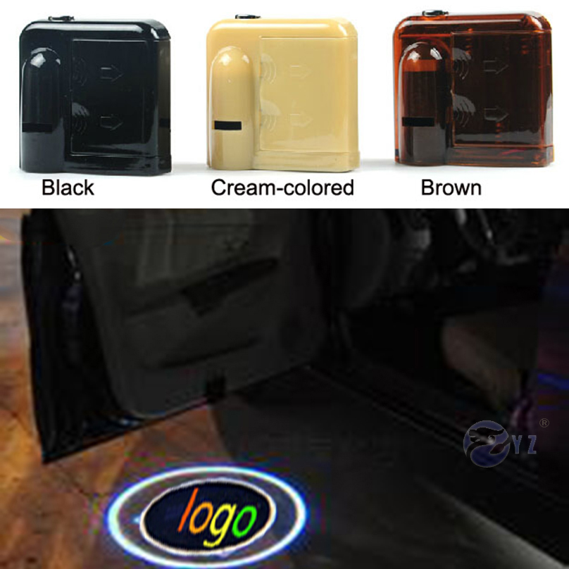1 Pair Wireless Led Car Logo emblem door welcome Light For Acura Seat GMC Suzuki Citroen Cadillac Dodge Land Rover Maserati(China (Mainland))