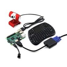 Waveshare Raspberry Pi 3 Model B Development Kits+ Camera +Mini Wireless Keyboard+ Micro SD Card = RPi3 B Package C(China (Mainland))