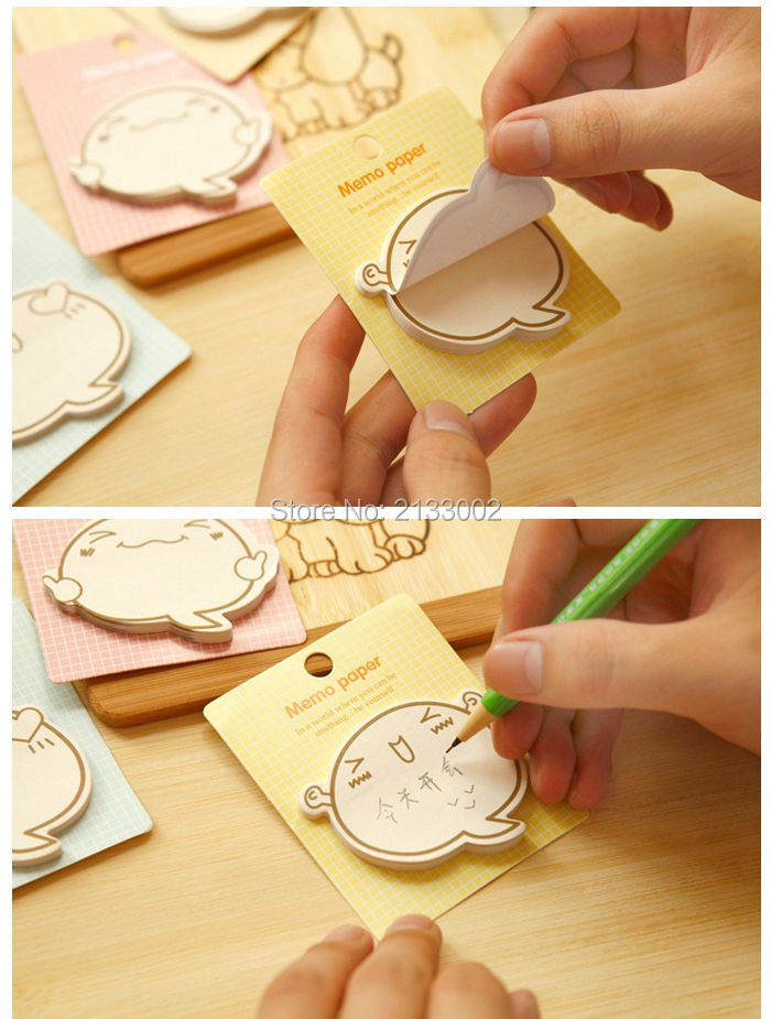 Cute Big Face Facial Expression N Times Sticky Notes Memo Pad Paper Sticker Post It Notepad Gift Stationery