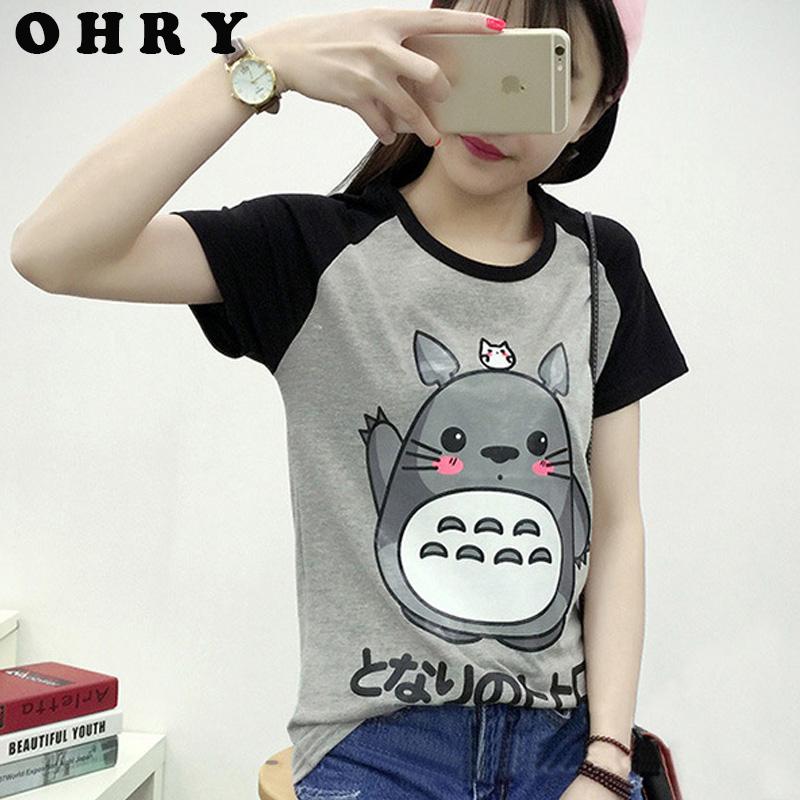 2016 Summer Style Cute Totoro T Shirt Women Short Sleeve T-shirt Plus Size Graphic Tee Shirt Femme Japanese anime Tshirt WomenОдежда и ак�е��уары<br><br><br>Aliexpress