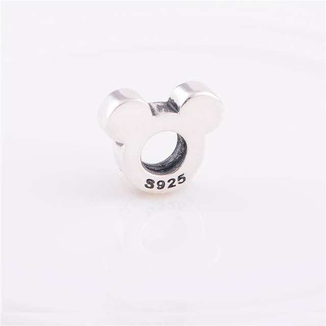 Мода стерлингового серебра 925 бусины микки маус старинные очарование поделки изготовления ювелирных изделий подходит для Chamilia европейский браслет