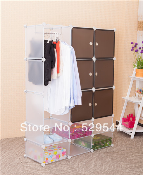 On Sale  1set/lots Cheap DIY Wardrobe armoire Schrank Drawer chest End table Garderobe
