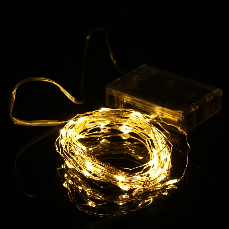 Best Price 5M 50 LED String Fairy Light Battery Operated Xmas Party Home Decoration Warm White ...