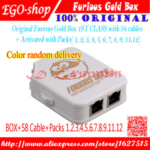 100%original The unlocking box of Furious gold box with 58pcs cables,Full activated Pack 1-Pack 12+free shipping