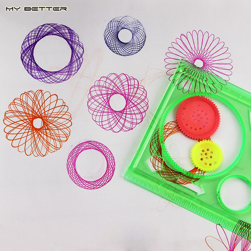 Interesting Puzzle Spirograph Children Drawing Plastic Ruler Can Improve The Child'S Start Work Ability(China (Mainland))