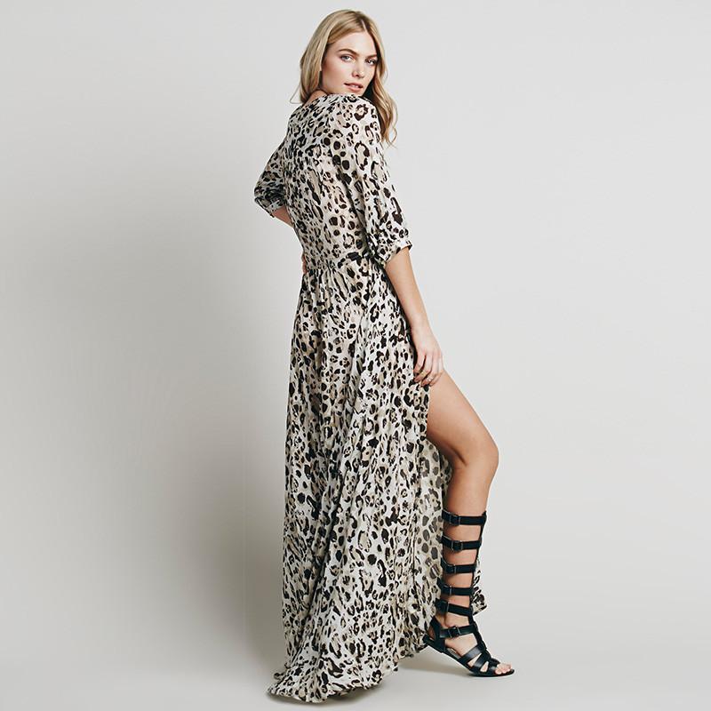 Cheap Maxi Dresses Plus Size Animal Print Fashion Dresses