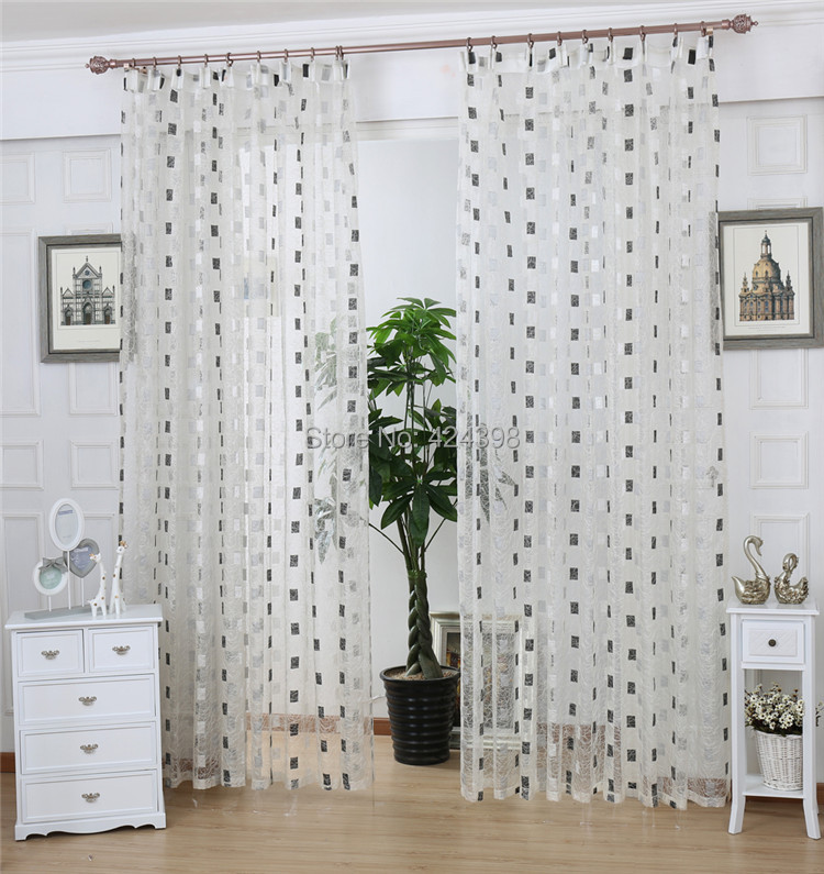 Balcon sheer rideau produit fini nid d 39 oiseau br ve for Cortinas salon blanco y gris