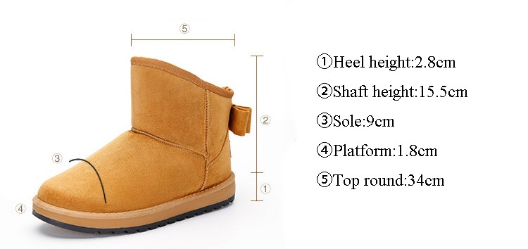 ซื้อ แฟชั่นใหม่ของผู้หญิงรองเท้าหิมะฤดูหนาวที่อบอุ่นให้สบายๆสีทึบรอบนิ้วเท้าขายร้อนรองเท้าWM36