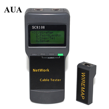 Hot Selling Portable LCD Wireless Network Tester Meter&LAN Phone Cable Tester & Meter With LCD Display RJ45 Free Shipping