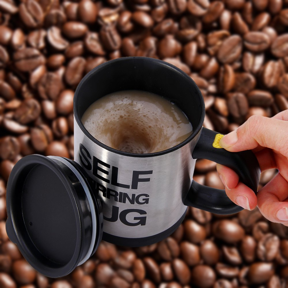 1Pc 400Ml Mug Automatic Electric Lazy Self Stirring Mug Automatic Coffee Milk Mixing Self Stirring Mug Cup Stainless Steel(China (Mainland))