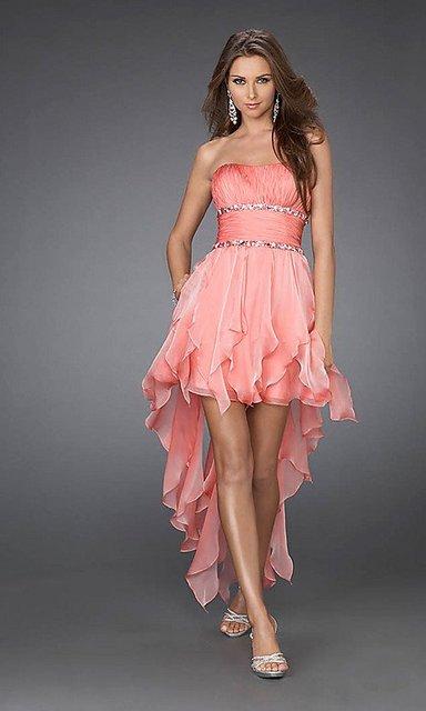 Сексуальный без бретелек привет-ло вышивка бисером шифон розовый коктейльный платья ...
