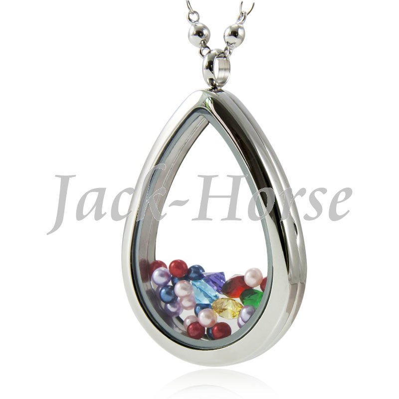 New 316 Stainless Steel Floating Water Drop Locket <br><br>Aliexpress