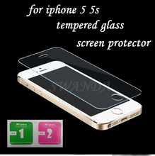 For iphone 5 Tempered Glass for iphone 5 Screen Protector for iphone 5s Glass 9H2.5D 0.3mm Tough Screen Film for iphone 5 Glass