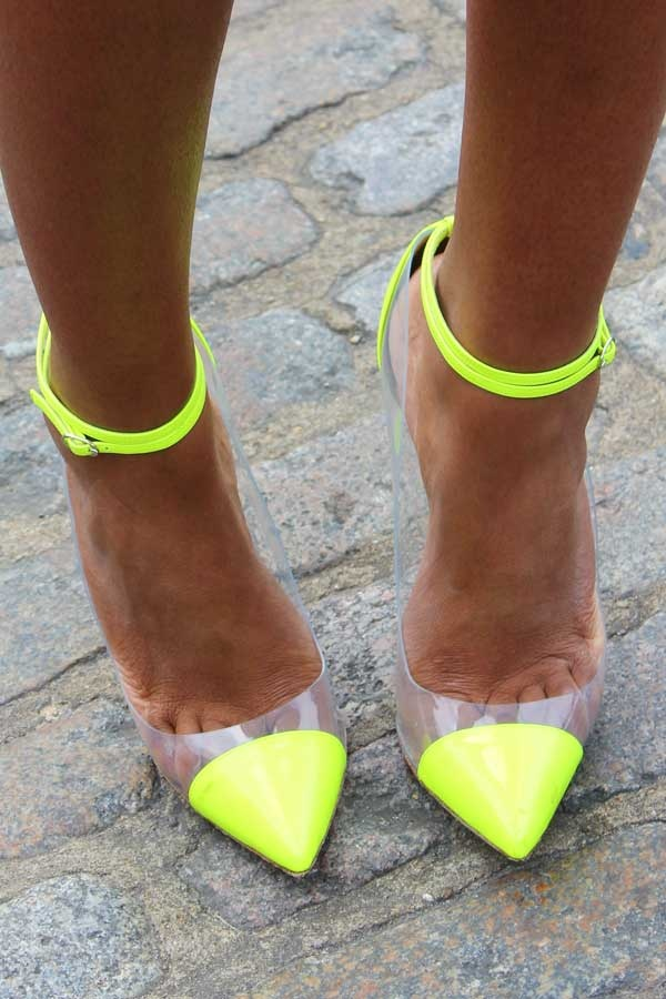 Neon Yellow Ankle Strap Heels Boots And Heels 2017