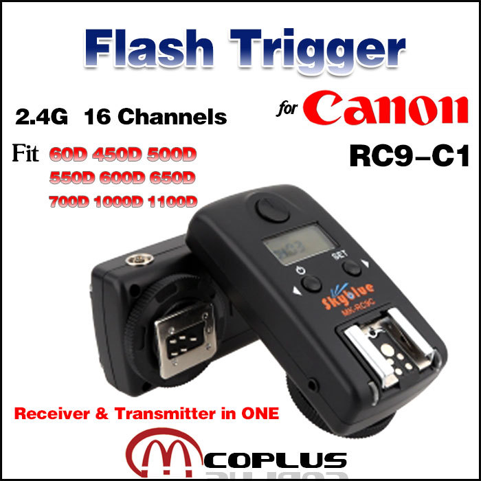 Meike RC9-C1 16 Channels Wireless Receiver &amp; Transceivers in One Flash Trigger for Canon EOS 60D 600D 1100D 700D 650D 550D<br><br>Aliexpress