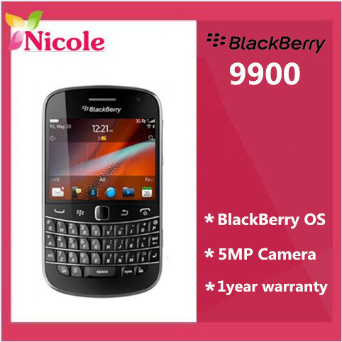 9900 Original Refurbished Unlocked BlackBerry Bold Touch 9900 Cell Phone 5MP 3G GPS 8GB memory By SG post free shipping(China (Mainland))