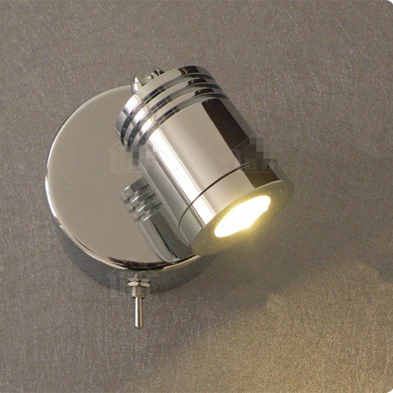 Wall Mounted Led Reading Lamps : Free shipping Wall Mounted Reading Lamps Bed Aisle Mirror Wall Paint Cabinet Lighting 3W CREE ...