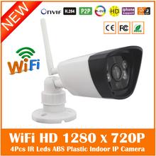 SW2402 HD 1280*720 P Wi-Fi Беспроводной 802.11b/g/n Ip-камеры четыре Массив Инфракрасного Света, P2P Onvif Главная Видеонаблюдения Сети Ip-камера