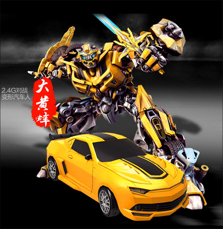 2.4G Robot Transformation Remote Control Bumblebee Bumblebee Action AUTO CAR ROBOT Human voice Toys Kids Christmas Kids Gift(China (Mainland))