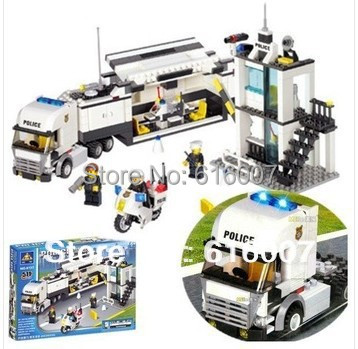 Building Blocks 511 Pieces High Quality Assembling Series Police Car Command Vehicle Assembling Toys 6727 Free Shipping White(China (Mainland))