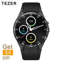 Buy TEZER top sports KW88 3G WIFI GPS smart watch Android 5.1 iOS MTK6580 Heart Rate GPS Google Play Youku 512MB/4GB Remote for $99.07 in AliExpress store