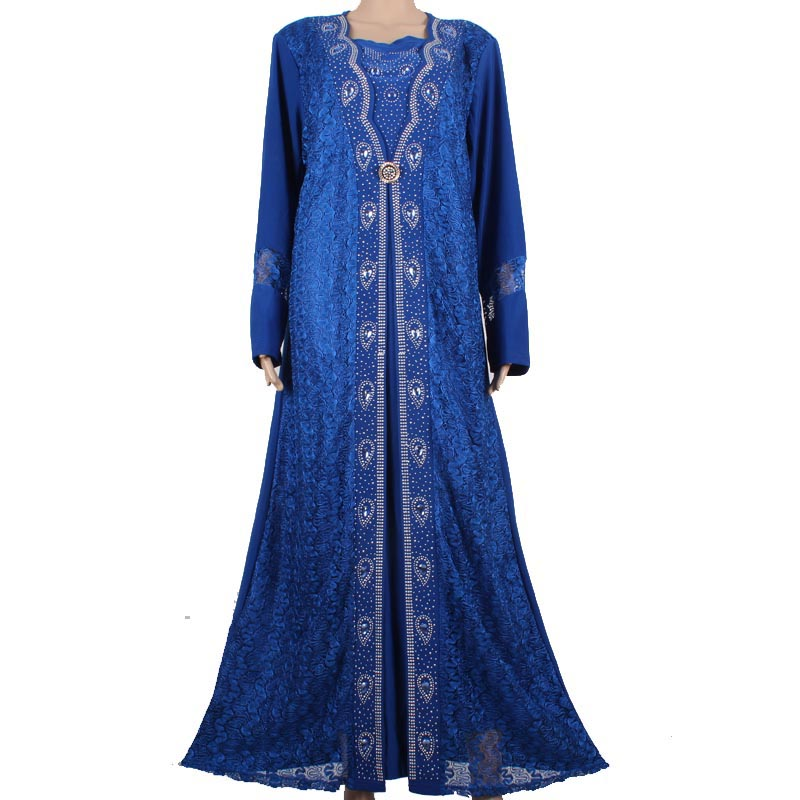 Beautiful For Women High Quality Beadings Muslim Dress Turkish Clothing Dubai