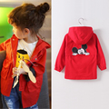 2 10T age baby girl Autumn cartoon mouse long jacket children Fall coat