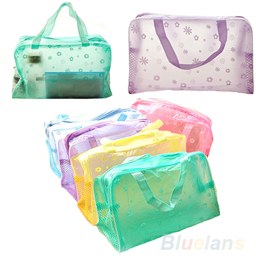 Гаджет  Hot Floral Print Transparent Waterproof Makeup Make up Cosmetic Bag Toiletry Bathing Pouch None Камера и Сумки