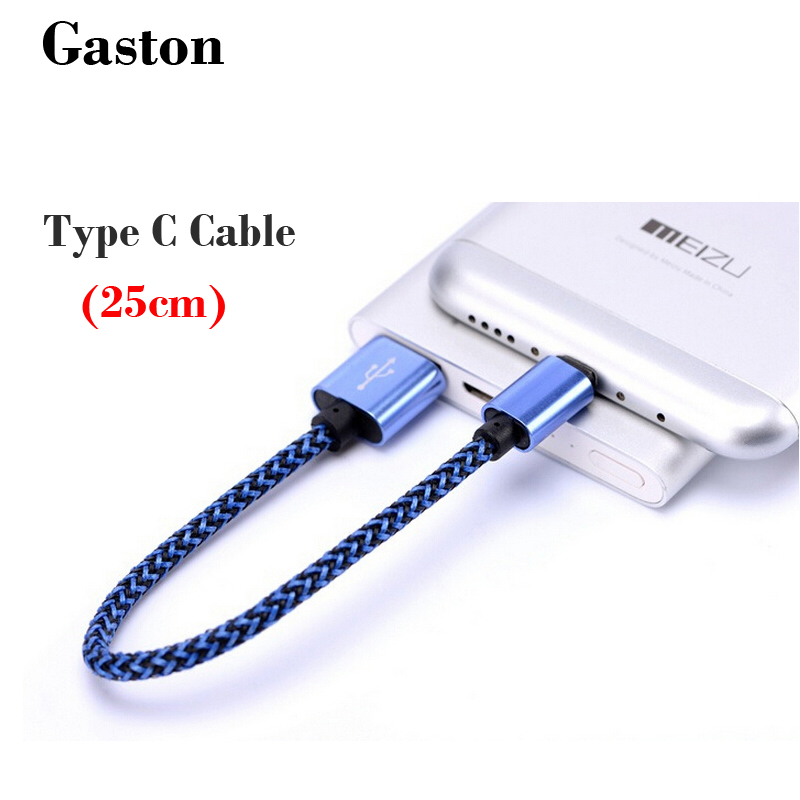 USB Type C Cable Short Cord (0.8ft) Nylon USB-C Type C USB Cable for Power Bank Xiaomi mi4c Nokia N1 LG G5 Nexus 6P/ 5X Zuk Z1(China (Mainland))