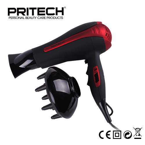 PRITECH Brand Professional Electric Brush Hair Blow Dryer Big Power 2000W Perfect Hair Salon Equipment DC Motor Free Shipping(China (Mainland))
