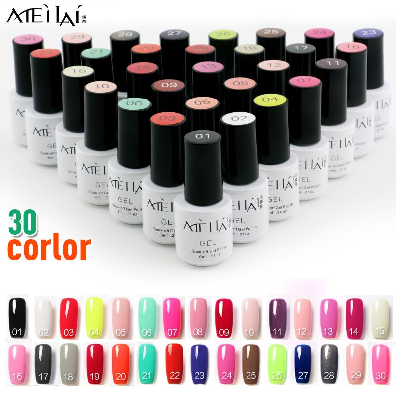 6ml LED UV Nail Gel Long Lasting Hot Sale Gel Lacquer DIY Nail Art Colorful Nail Gel UV Gel Set UV LED Lamp Curing(China (Mainland))