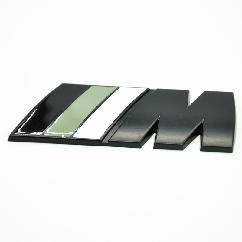 M Tech Sport Front Grill Rear Trunk Badge Black White M
