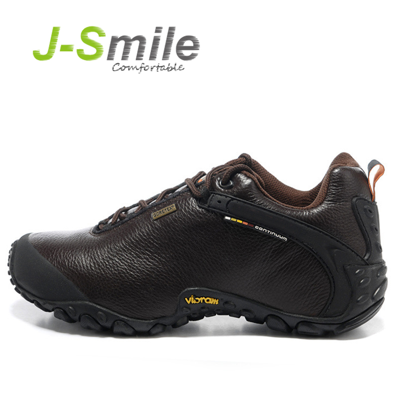 Free Shipping wholesale Genuine leather Hiking shoes, men's Outdoor hiking shoes, Waterproof shoes sport shoes