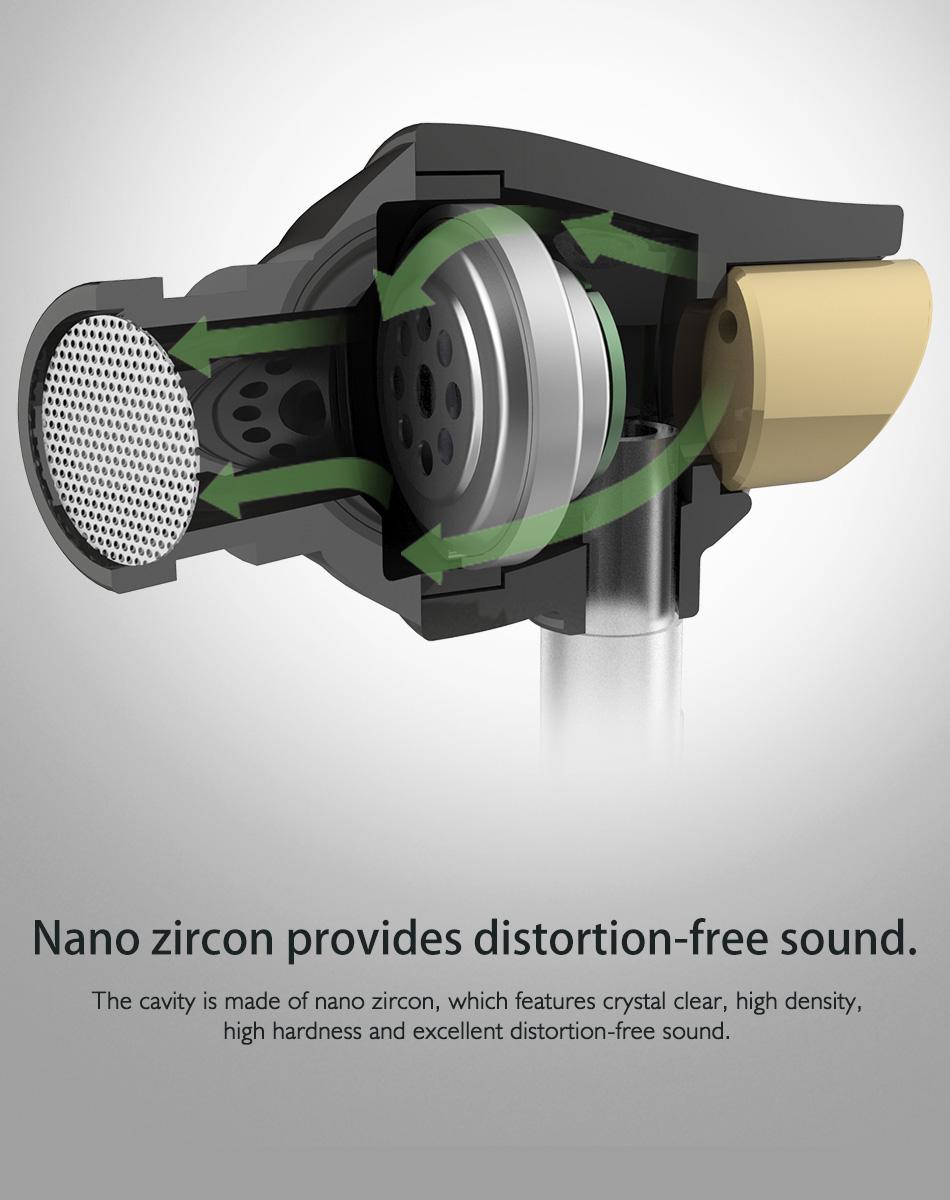 Rock In Ear Zircon Stereo Earphone Headset 3 5mm Luxury