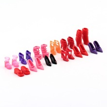 12pairs Fashion Cute Colorful Assorted shoes for Barbie Doll with Different styles High Quality(China (Mainland))